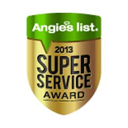 We Earn Angie's List Super Service Award 2013